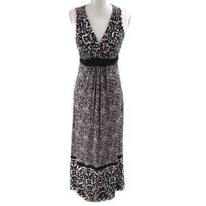 Soma Maxi Dress Black and White Print Sleeveless S